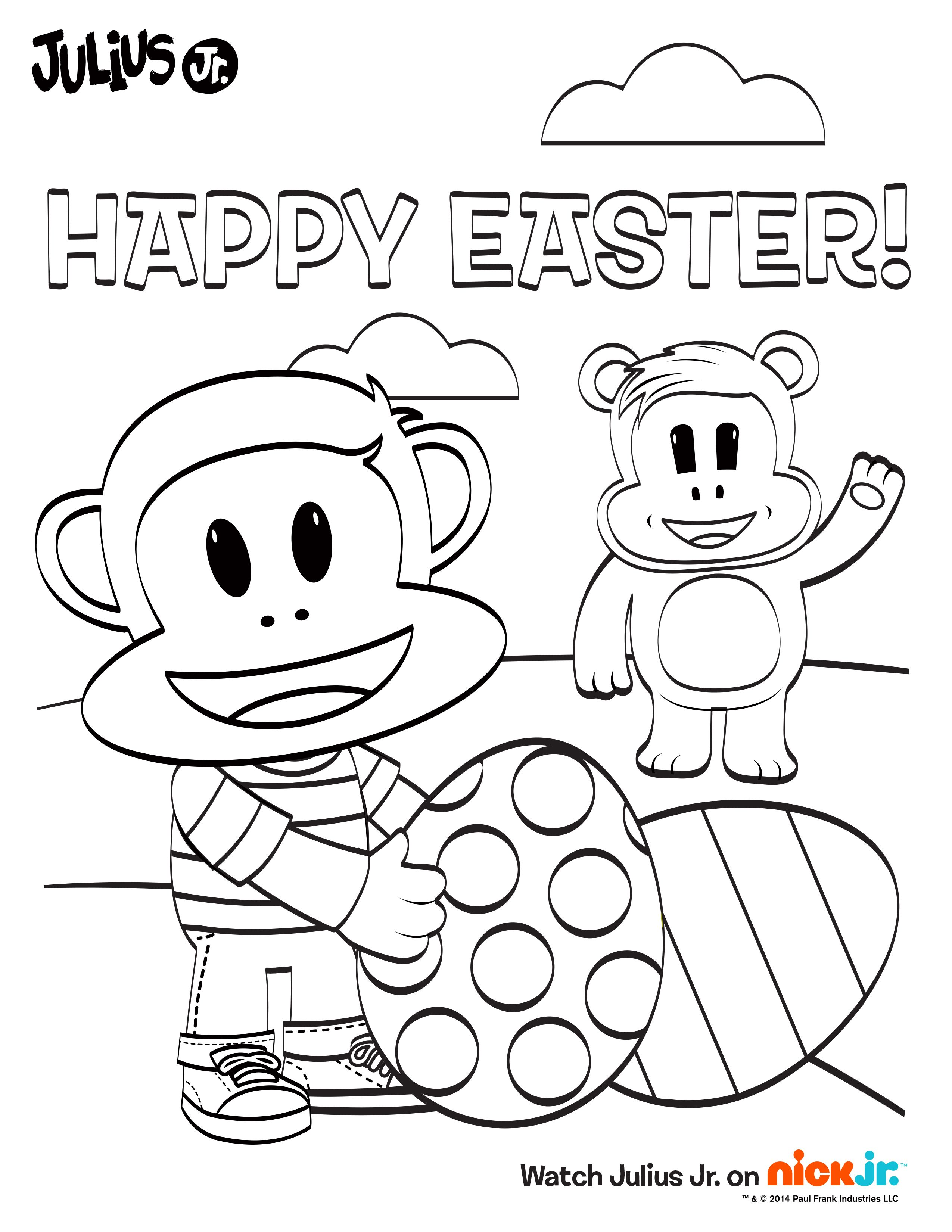 Color This Activity Sheet And Have A Wonderful Easter