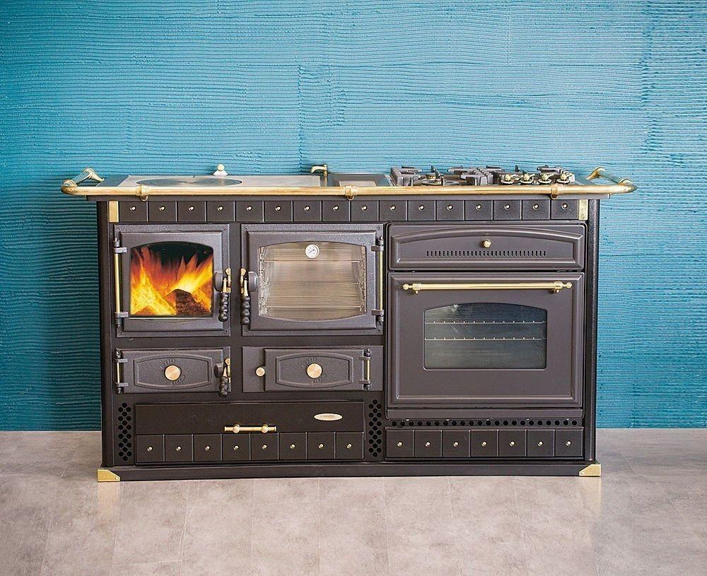 blocco cucina combinato (legna/wood, gas, elettricità/electric ...