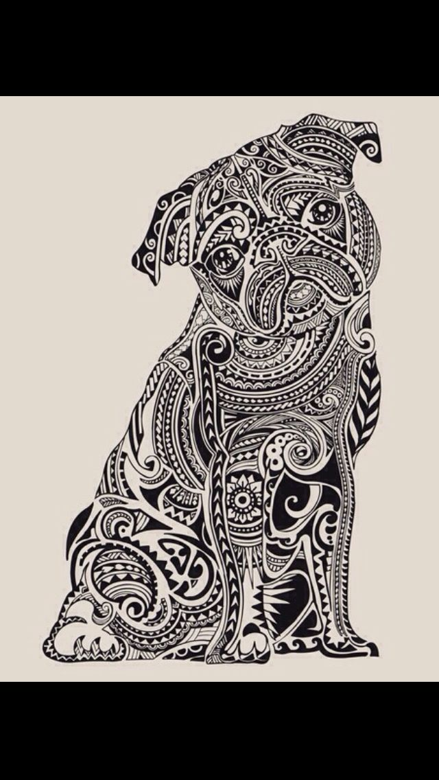 Pin By Riana On Art Dog Coloring Page Pug Art Animal