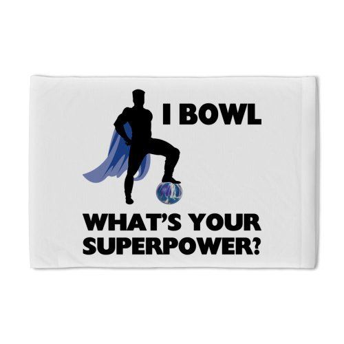 Bowling Superhero Pillow Case by CafePress - White by ...