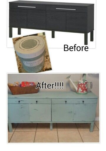 Ikea Bjursta Sideboard Makeover Using Americana Decor Vintage And