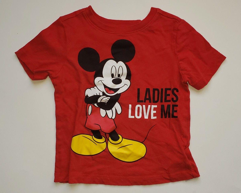 Disney Red Mickey Mouse Ladies Love Me TShirt. Like New