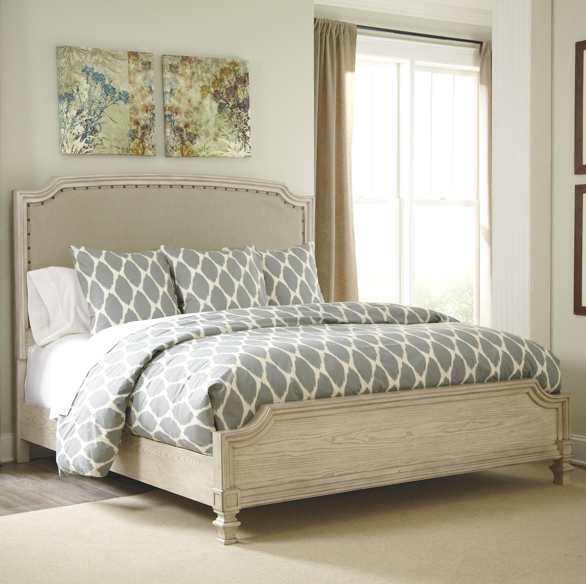 Demarlos Queen Upholstered Panel Bed by Signature Design
