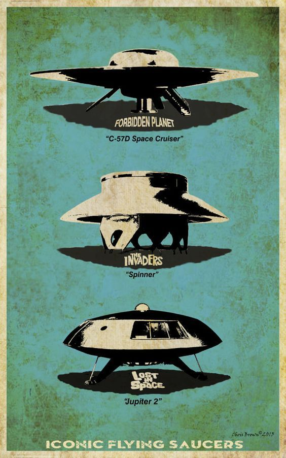 Flying Saucer Posters Art Prints Flying Saucer Science Fiction Art