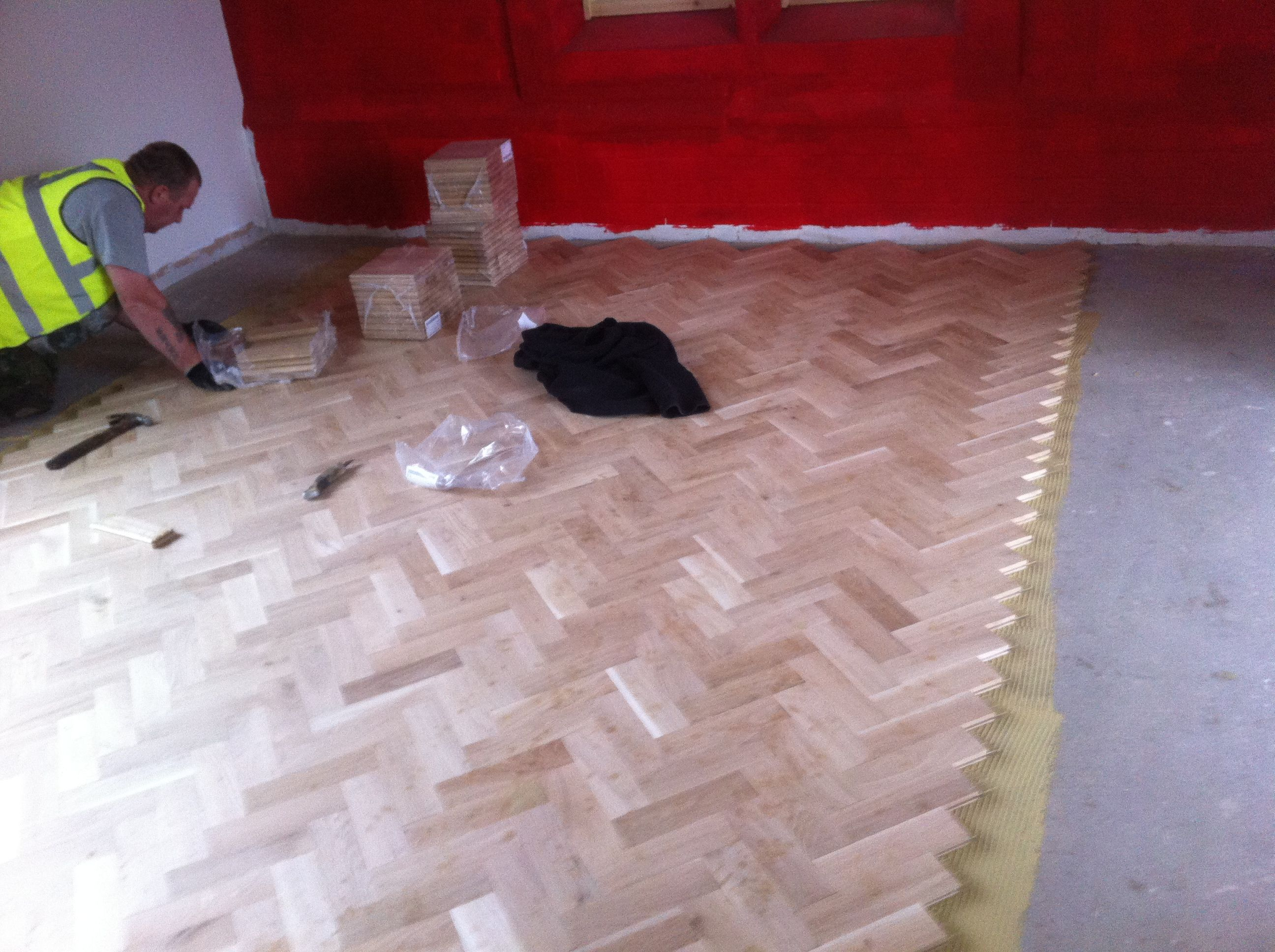 Oak parquet been fitted