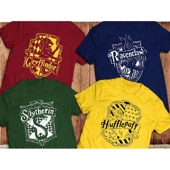 Harry Potter Hogwarts Crest Gryffindor Hufflepuff Ravenclaw T-Shirt Kids