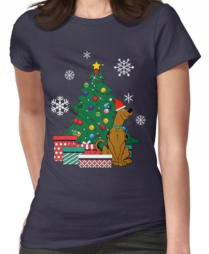 Tintin And Snowy Around The Christmas Tree Women/'s T-Shirt
