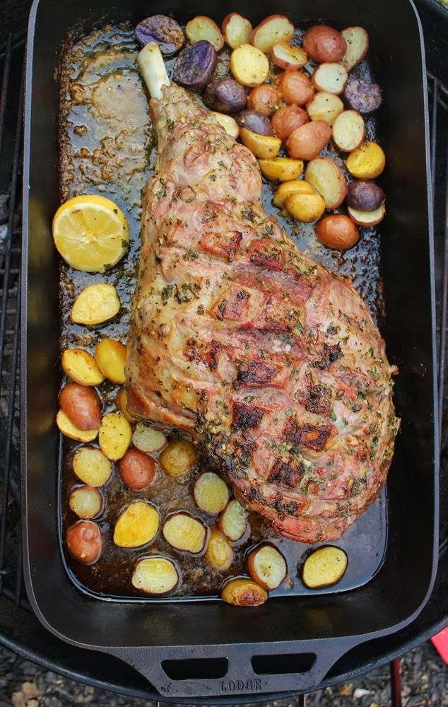 Leg Of Lamb With Herb Butter Herb Butter Venison Recipes How To Cook Potatoes