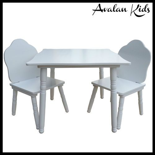 Details About Kids Childrens Table And Chairs In White Kids Table