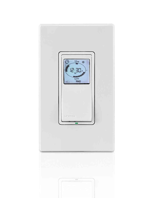 leviton vpt pz vizia hour programmable indoor timer  leviton vpt24 1pz vizia 24 hour programmable indoor timer 22