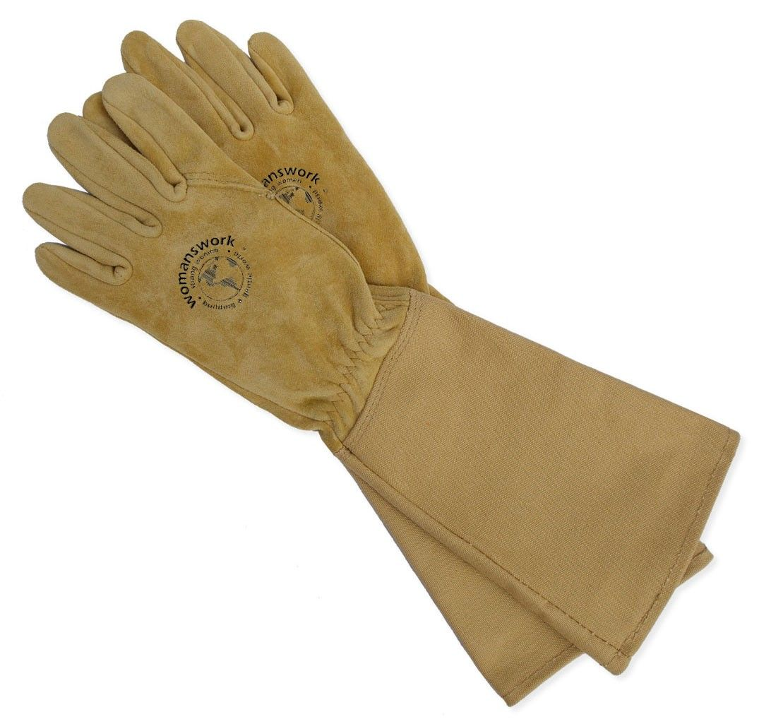 Womens leather gloves vancouver - Women S Leather Gauntlet Glove From Womanswork Great When Working Around Roses Quince Barberry