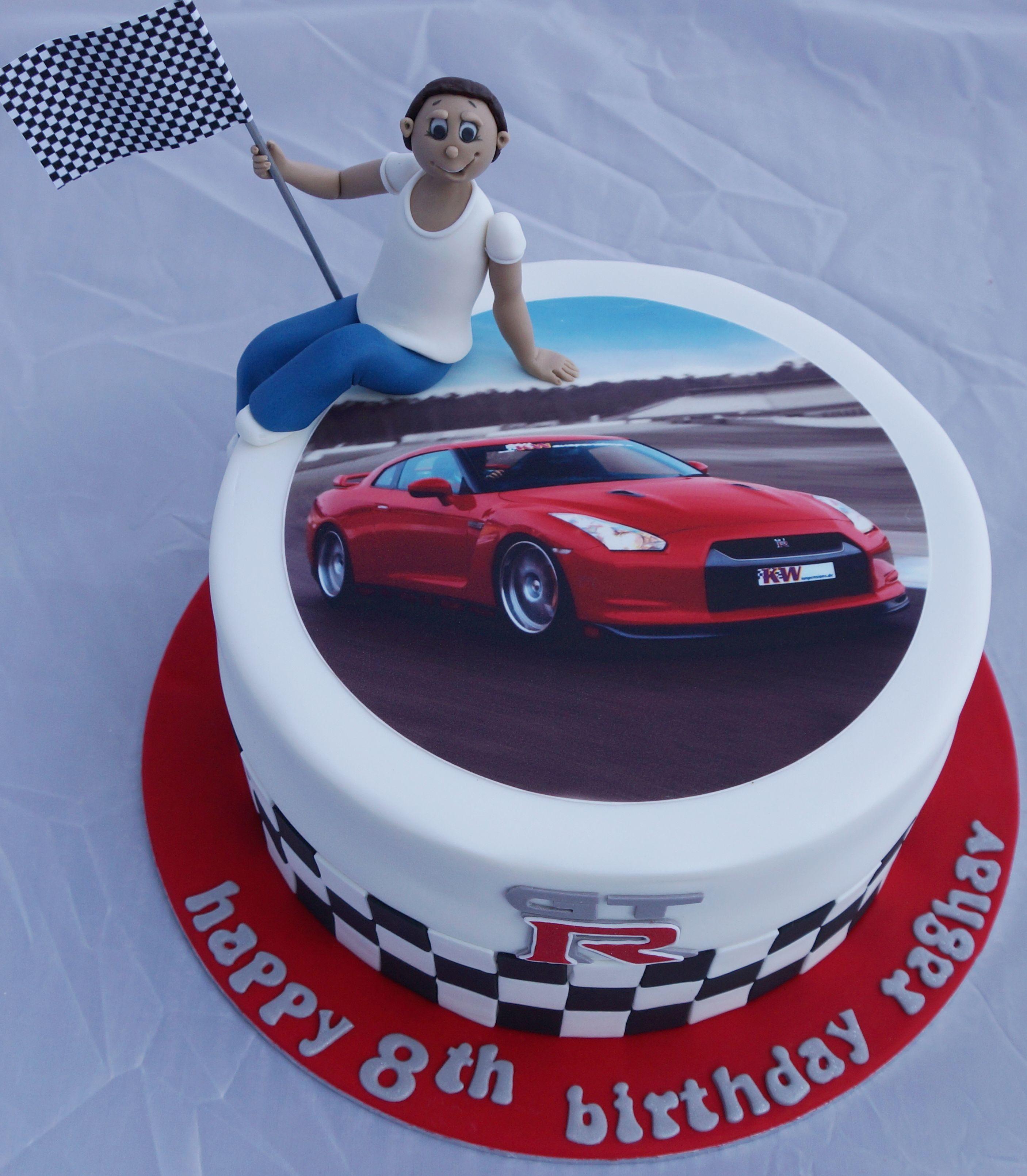 Nissan GTR Cake Kellys Cake Toppers Pinterest Cake - Car engine birthday cake