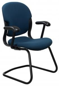 Herman Miller Equa Size B Used Sled Base Side Chair Blue Chair