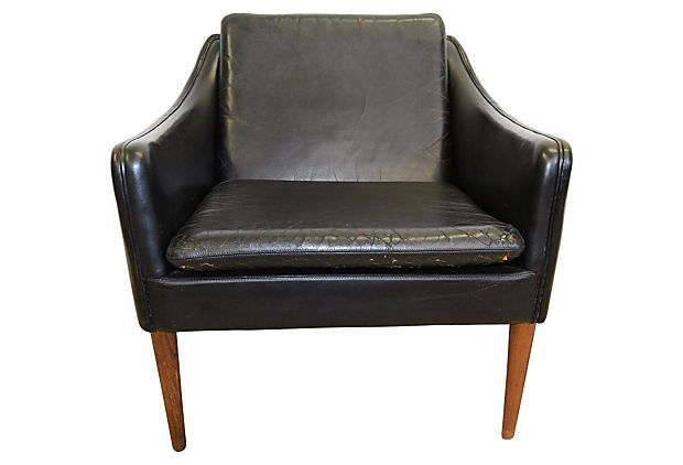 Danish Leather Chair by Hans Olsen on OneKingsLane.com