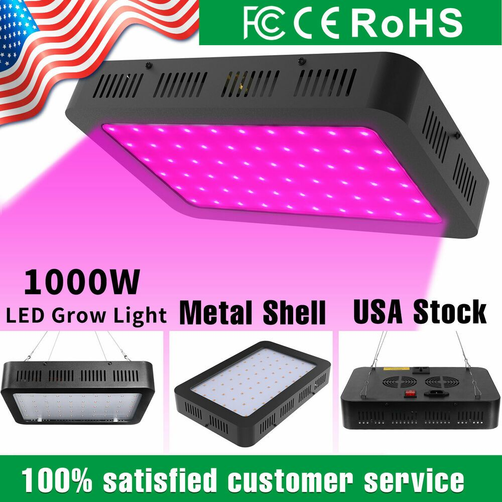 Details About 1000w Led Grow Light Hydroponics Full Spectrum Indoor Plant Flower Bloom Lamp Led Grow Lights Led Grow Lights Hydroponics Led Grow