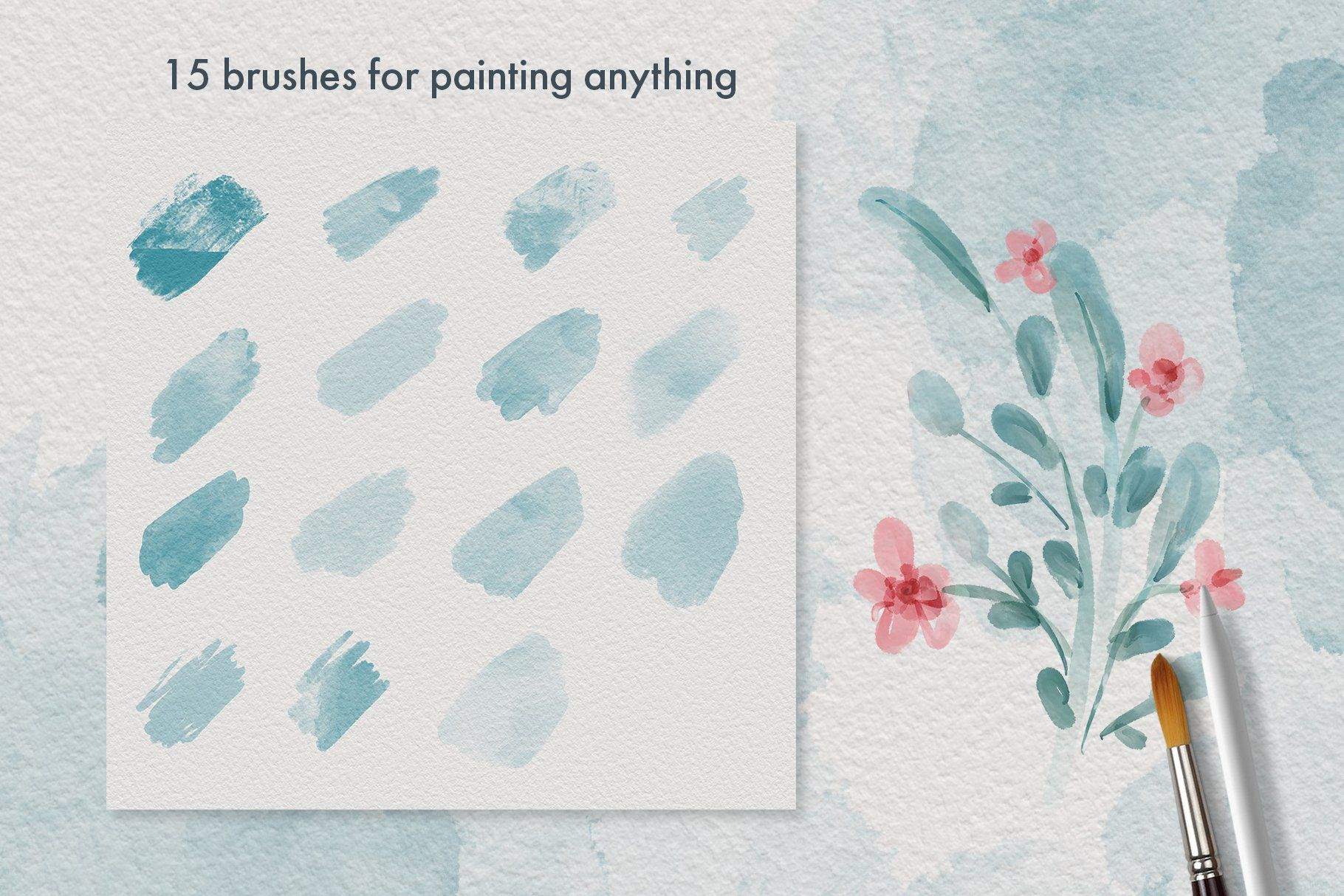 Procreate Watercolor Brush Set Aff Wedding Invitations Cards