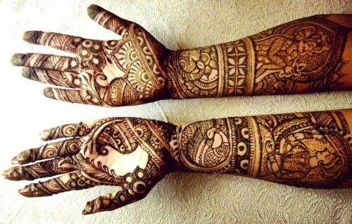 Mehndi Front Hand : Front hand mehndi design for wedding priti