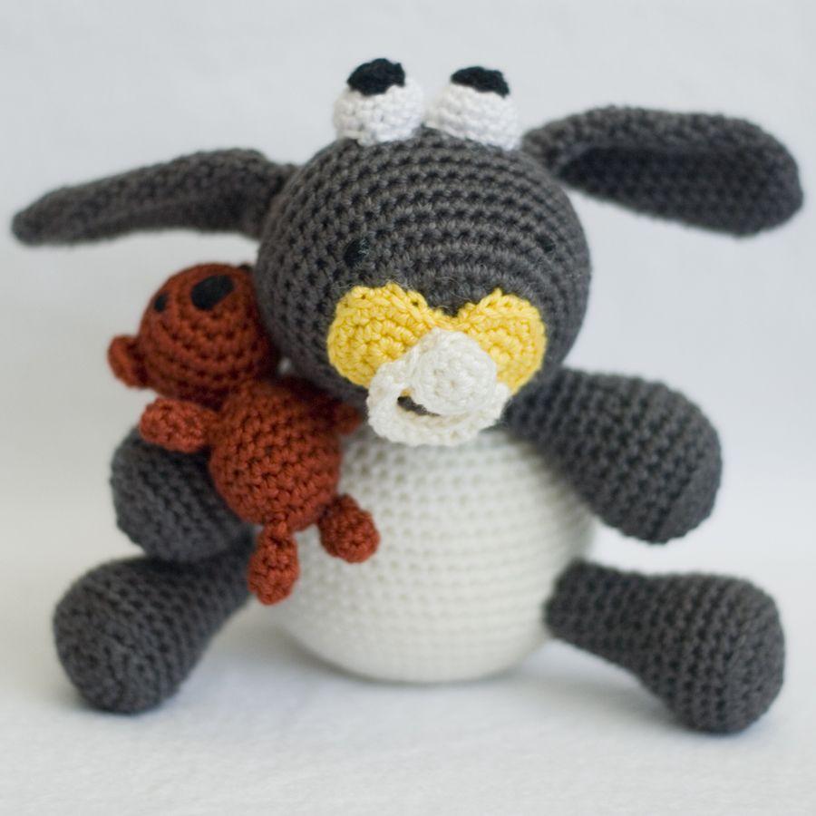 Ik heb nu ook een gehaakte knuffel van Timmy gemaakt, het lammetje ...