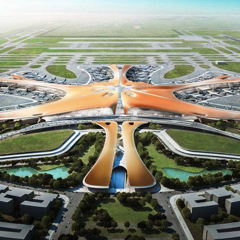 The Beijing New Airport Terminal Building, Daxing (Zaha Hadid)