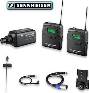 Sennheiser EW 100-ENG G2 Wireless Lavalier Microphone System, with BodyPack Transmitter,Plug-on Transmitter, Camera Receiver Included