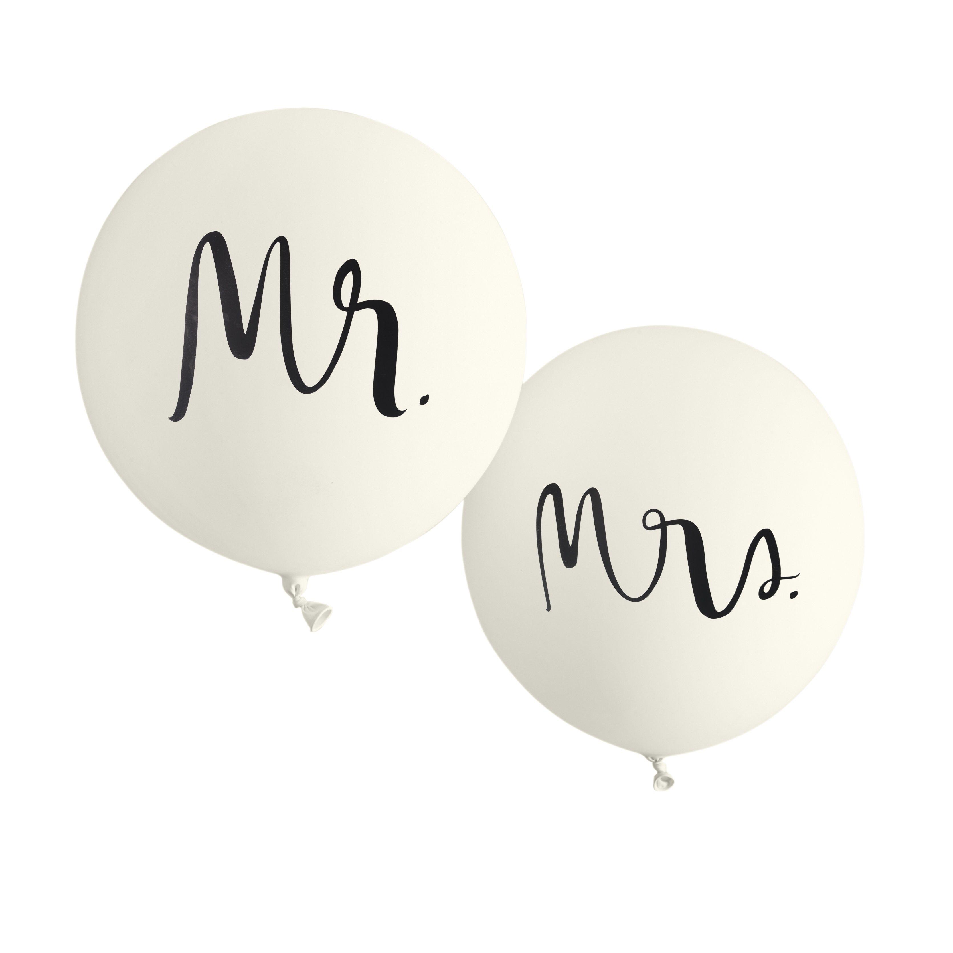 9dfddf8d0ba Kate Spade New York Mr. and Mrs. giant wedding balloons | Bridal ...