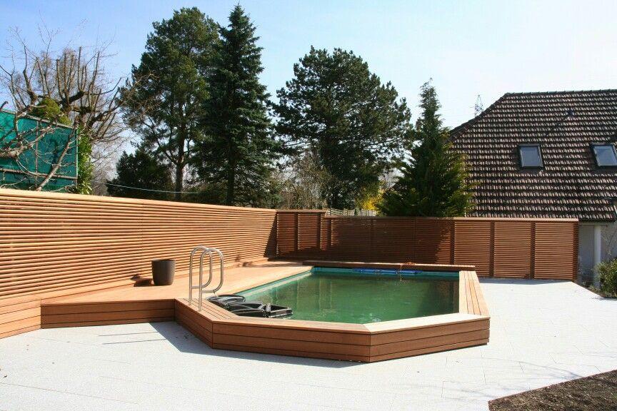 Pool mit Sichtschutz Gartengestaltung mit CADEX® Haltesystem