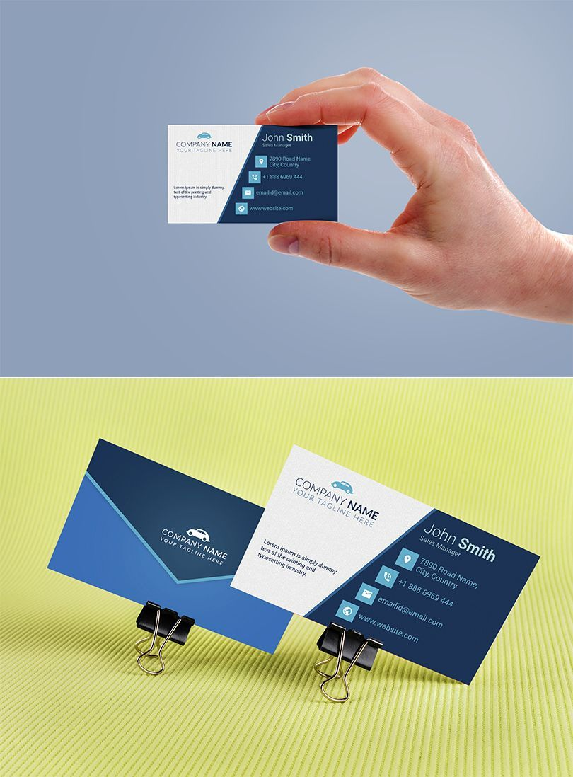 Car Sales Executive Business Card Template in 2020 Free