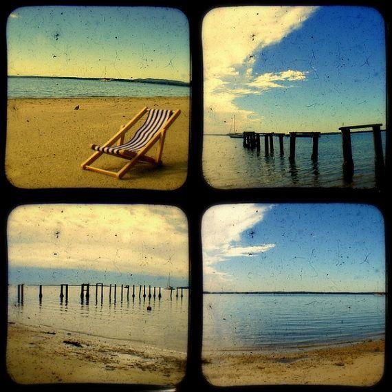 Beach Photo Prints Vintage Style Beach Photography Nostalgic Summer ...