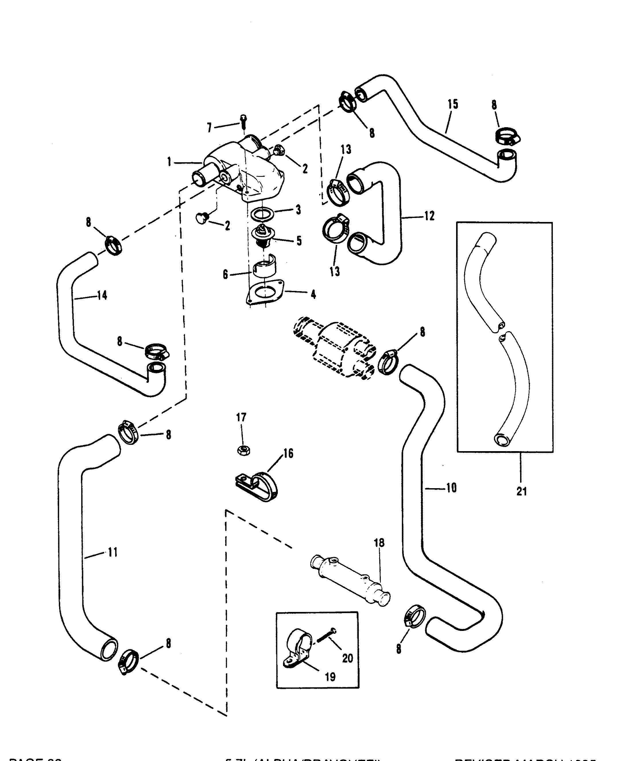 thermostat housing standard cooling for mercruiser 5 7l alpha mercruiser thermostat wiring diagram [ 2160 x 2650 Pixel ]