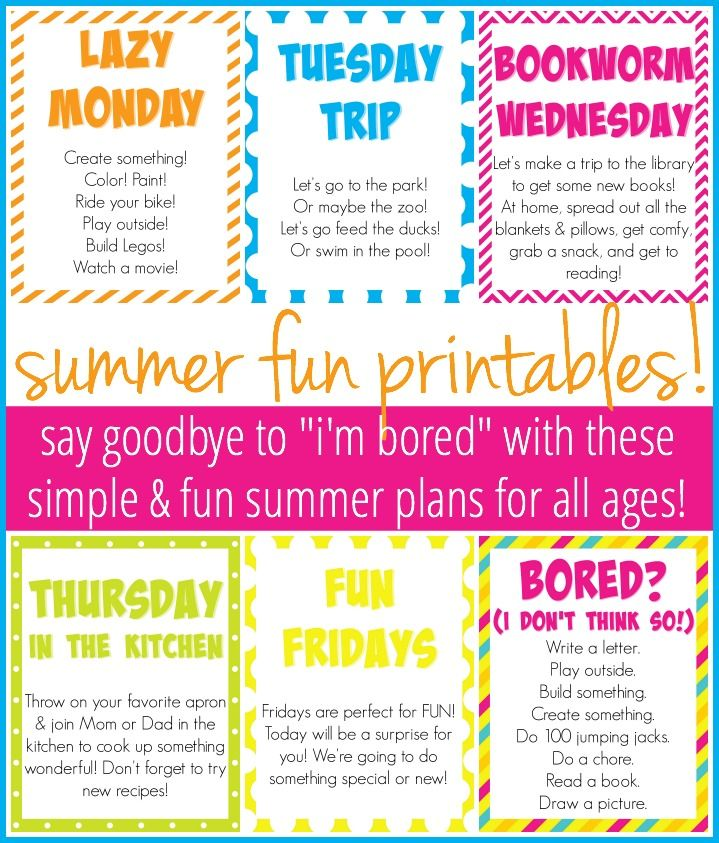 How To Plan A Simple, Fun Summer For Your Kids (And You!) :: Free Printables Included! - Anchored Women