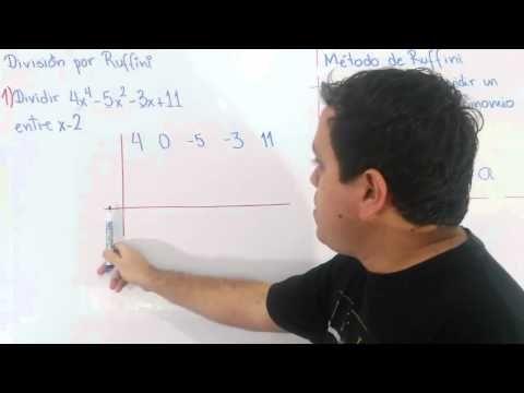Division Por Ruffini Division De Polinomios Polinomios