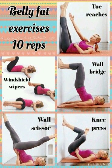 To Lose Belly Fat Do The Exercises Shown In The Pic 10 Times Each 5