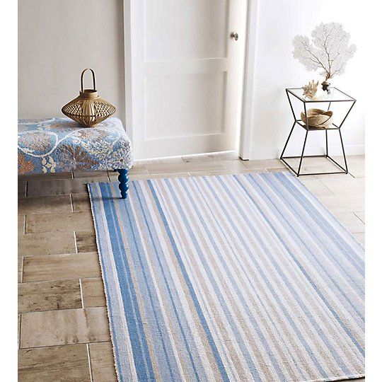 Cirrus Stripe Rug Handwoven Of 100 Polyester From Recycled