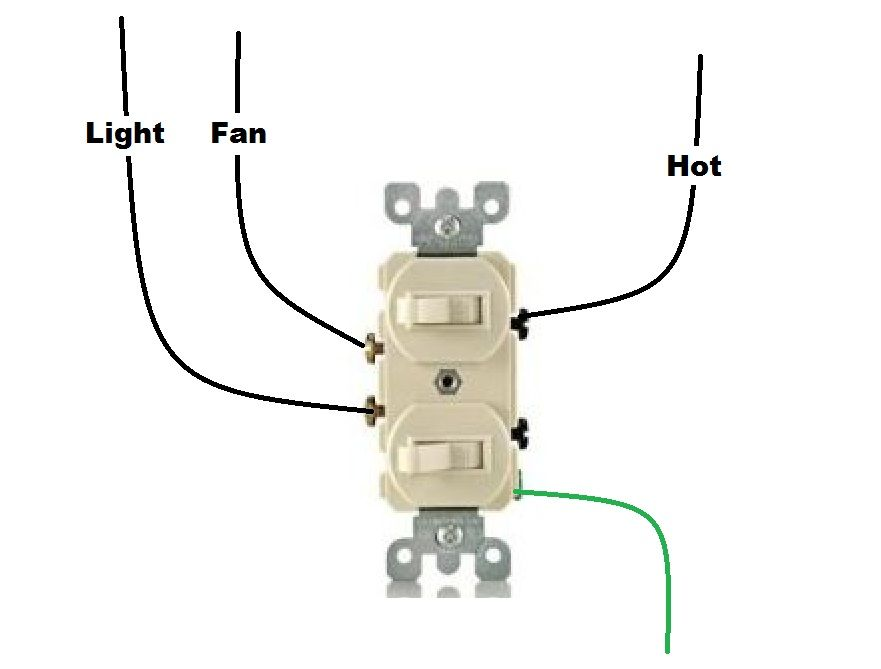 Bathroom Fan And Light Switch Wiring Diagram | Light ...