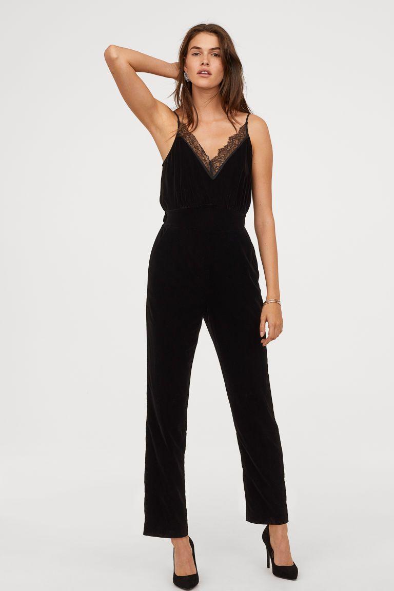 2f93b7c76805 Velvet Jumpsuit - Black - Ladies