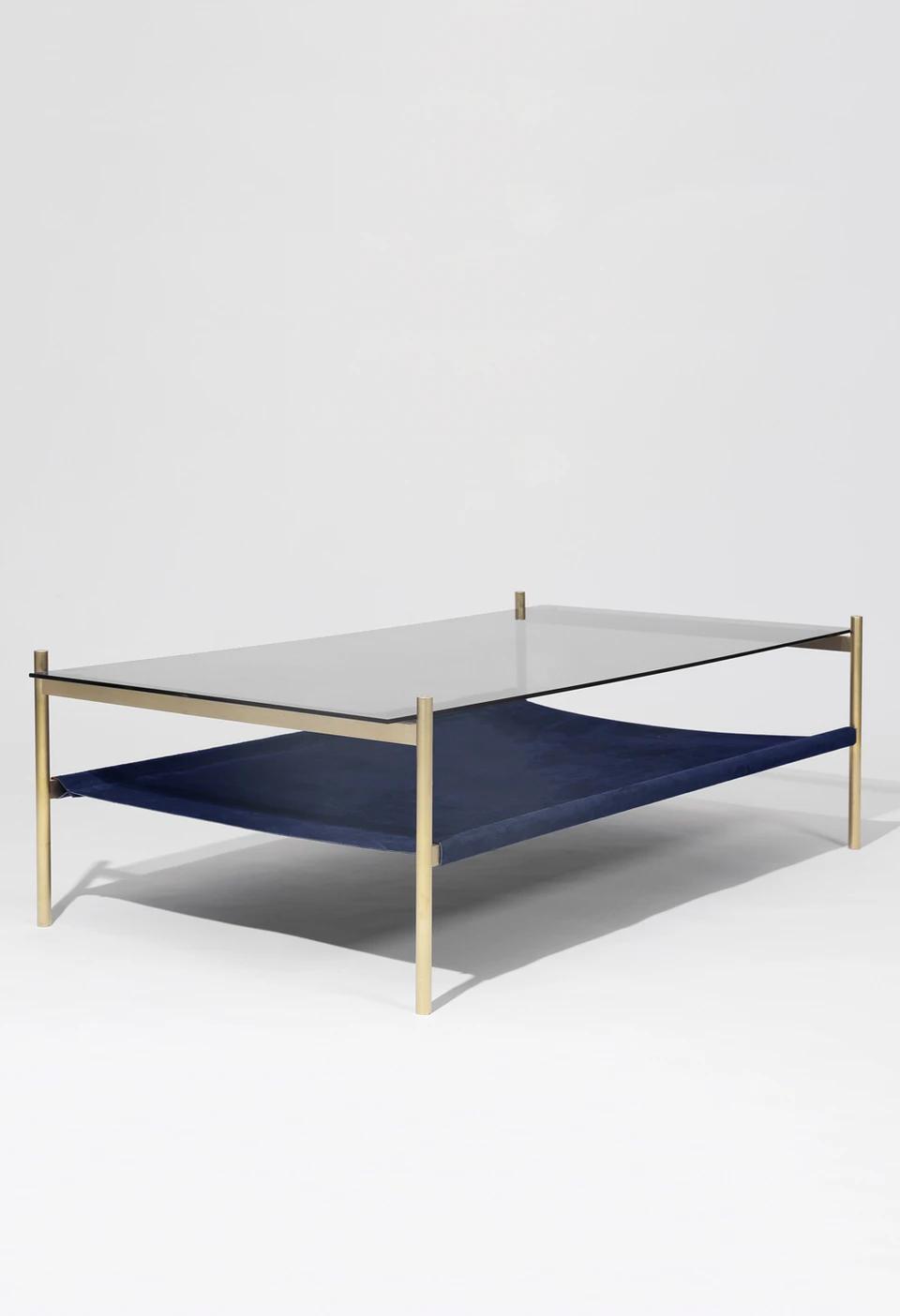 Duotone Rectangular Coffee Table Brass Frame Smoked Glass Navy S Yield Brass Coffee Table Rectangular Coffee Table Coffee Table [ 1404 x 960 Pixel ]