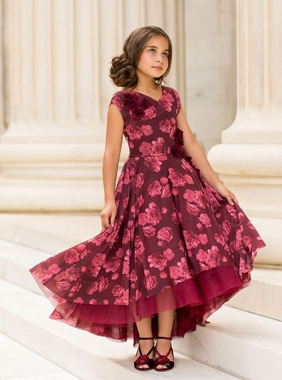 f7d27f69c1196 Joyfolie Juliette Dress in Berry   Shop Over the Top Christmas Outfits &  Designer Clothing for Girls at SugarBabies
