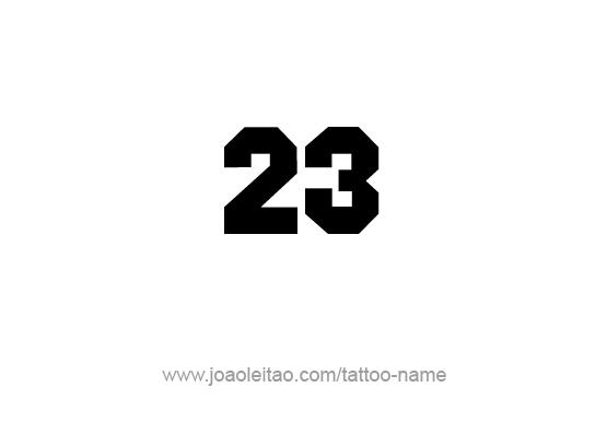 Twenty Three-23 Number Tattoo Designs | Twenty Three | Tattoo ...