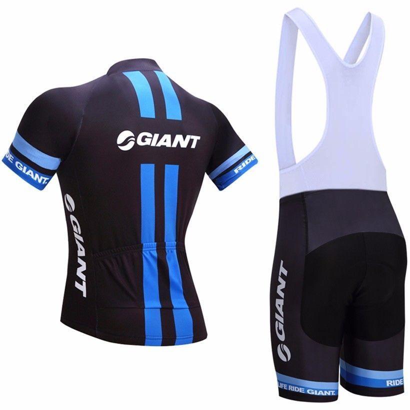 4bb2e9510 2017 Team Giant Pro Cycling Jerseys Blue Black