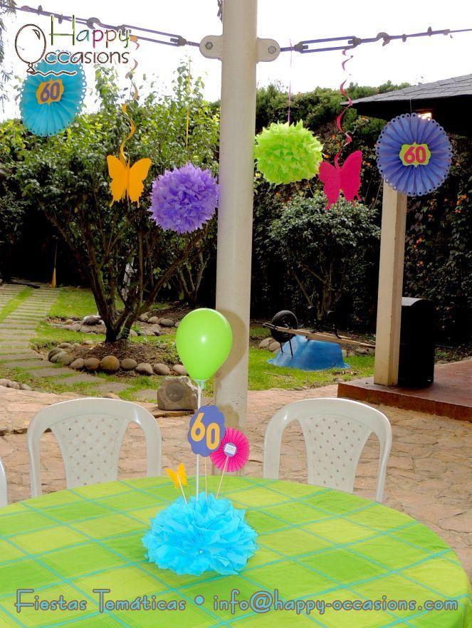 Decoración Fiesta 60 años mujer www.happy-occasions.com