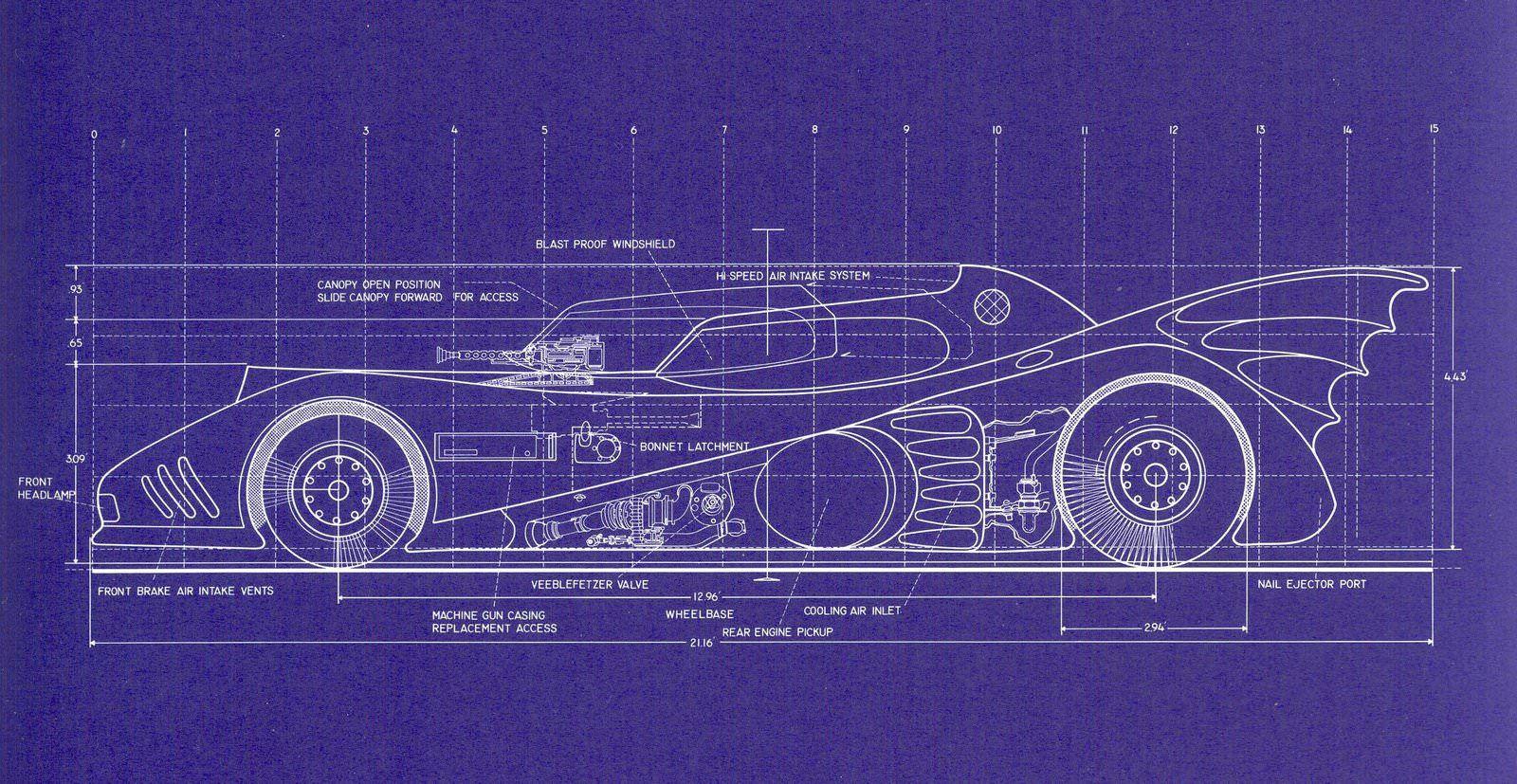 Batmobile blueprints batmobile cars and wheels batmobile blueprints malvernweather Choice Image