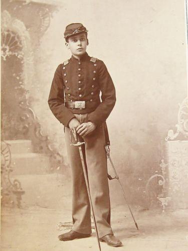 Real-Antique-Photo-of-Post-Civil-War-US-DRUMMER-BOY-CDV-1894-RARE-L-K-NR