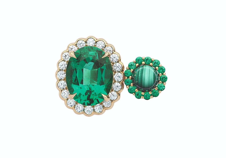 ディオールの新作ハイジュエリー ディオール エ モワ ダイヤモンドなどストーンを 向かい合わせ に ジュエリー 指輪 ダイヤ ファインジュエリー
