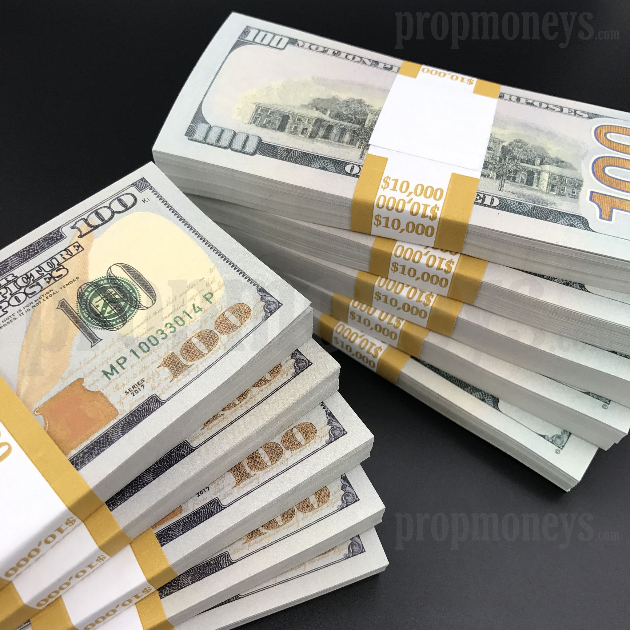 Money: $100,000 Full Print New Style Stacks