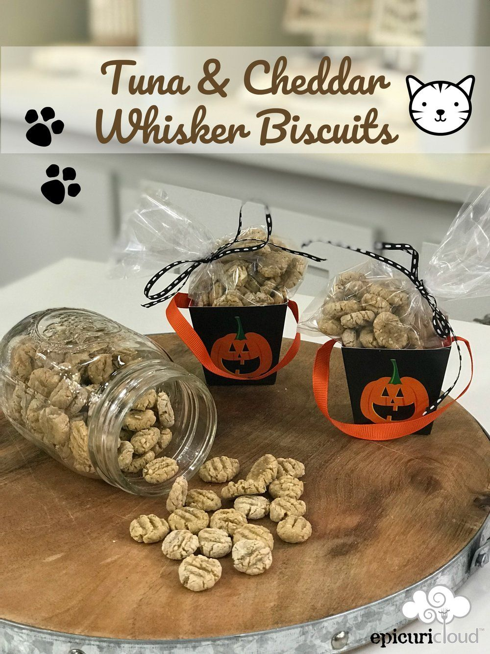 Tuna & Cheddar Whisker Biscuits Homemade Cat Treats