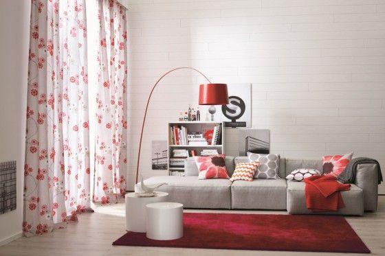 Designer Teppich Schöner Wohnen Victoria Rot Rot - kraftvoll und - bilder wohnzimmer rot