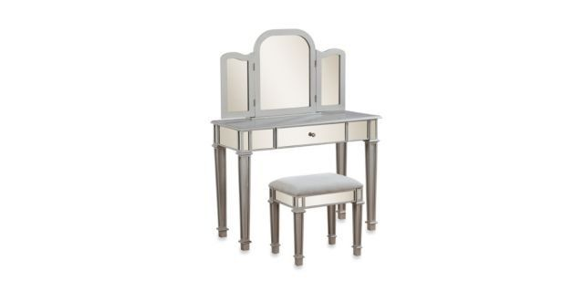 300 Mirrored Linon Home Annalisa Vanity Set From Bed Bath Beyond