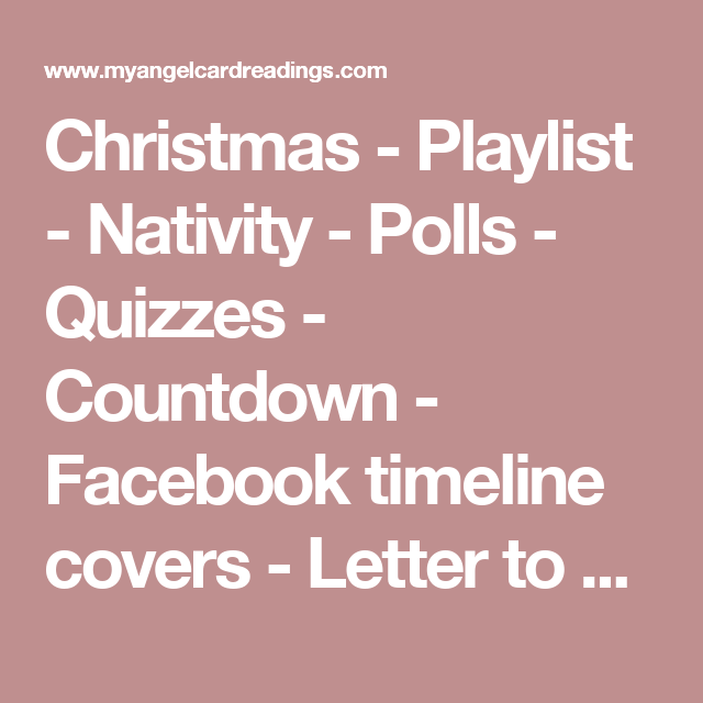 Christmas playlist nativity polls quizzes countdown christmas playlist nativity polls quizzes countdown facebook timeline covers spiritdancerdesigns Image collections