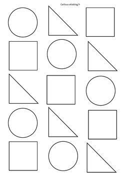 Formes g om triques et d coupage album trois souris for Dessin en forme geometrique