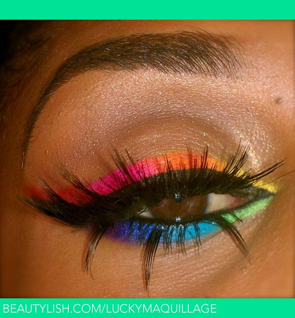 Love The Bold Bright Colours Makeup My Colorful Summer Lucky